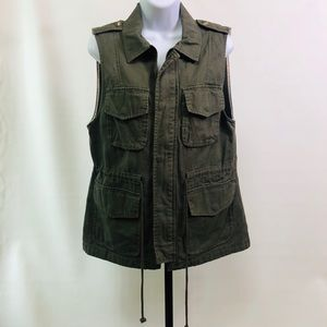 Sanctuary Army Green 4 Pkt. Vest